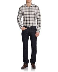 Michael Kors Windowpane Plaid Cotton Sportshirt - Lyst