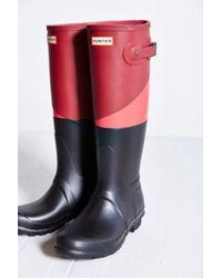 Hunter Original Asymmetrical Colorblock Waterproof Rain Boot - Lyst