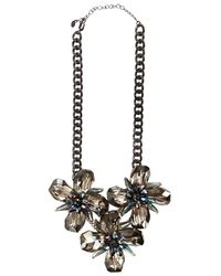 Oasis Crystal Flower Necklace - Lyst