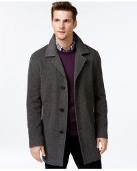 Calvin Klein | Button-front Coat | Lyst