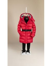 Burberry Showerproof Puffer Coat - Lyst