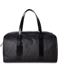 Fendi Black Zucca Weekender Bag - Lyst
