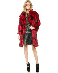 Jay Ahr Faux Fur Coat  - Lyst
