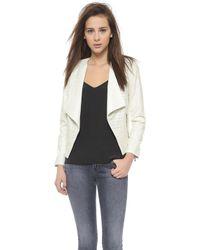 Addison - Kelis Faux Leather Jacket - Milk - Lyst