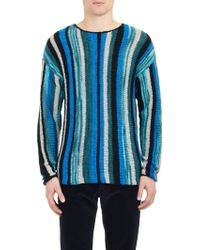 The Elder Statesman Variegated Stripe Sweater - Lyst