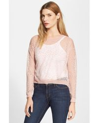 Milly Women'S Invisible Lace Pullover - Lyst