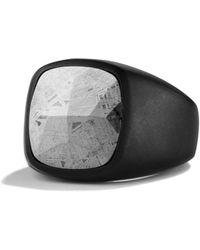 David Yurman - Signet Ring With Meteorite - Lyst