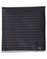 W.r.k. - Chambray Pocket Square - Lyst