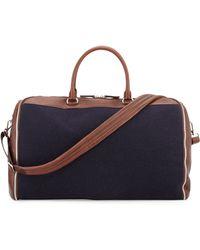 Brunello Cucinelli - Buffalo Leather And Flannel Garment Duffel Bag - Lyst