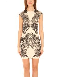 McQ by Alexander McQueen Lace Print Cap Sleeveless Dress - Lyst