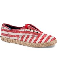 Keds Champion Washed Stripe Jute Sneakers - Lyst