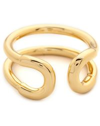 Giles & Brother Mini Cortina Ring  Gold - Lyst