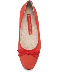 Jacques Levine Inslee Bow Fauxshearling Slipper - Lyst