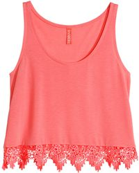 H&M Short Sleeveless Top - Lyst