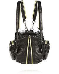 Alexander Wang Mini Marti Backpack in Waxy Black and Citrine with Nickel - Lyst