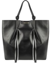 Kenneth Cole Reaction Horizontal Fringe Tote black - Lyst