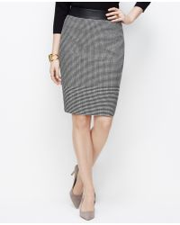 Ann Taylor Petite Graphic Tweed Pencil Skirt - Lyst