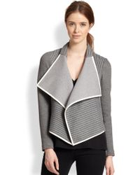Sachin & Babi Navarre Asymmetrical Draped Knit Jacket - Lyst