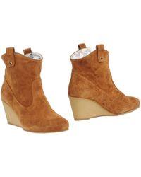 Paul & Joe Sister Brown Ankle Boots - Lyst