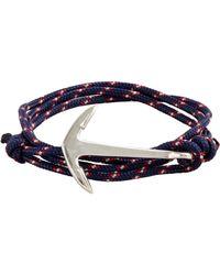 J.Crew - Miansai® Silver-plated Anchor Bracelet - Lyst