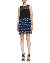 Diane Von Furstenberg Joan Wave-pattern Sheer Dress - Lyst