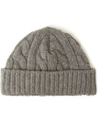 ab97bc9303c Oliver Spencer - Cable Knit Wool-blend Beanie Hat - Lyst