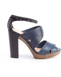 Reed Krakoff Dark Blue Anklestrap Heel Sandals - Lyst