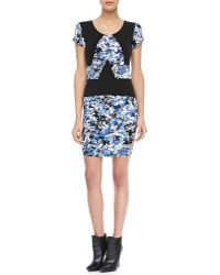 Parker Freddie Printed Combo Dress - Lyst