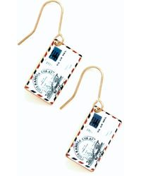 Ana Accessories Inc Postage Do Earrings - Lyst