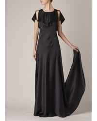 Maison Margiela | black Black Silk Satin Gown | Lyst