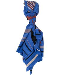 A Peace Treaty Tala 100% Silk Scarf In Blue multicolor - Lyst