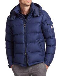 Moncler Mont Genevre Quilted Down Jacket blue - Lyst