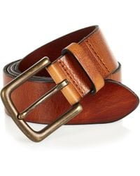 River Island Brown Leather Wide Belt brown - Lyst