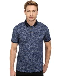 Ted Baker Flowbo All Over Floral Printed Polo - Lyst