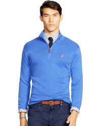 Polo Ralph Lauren | Pima Cotton Half-zip Sweater | Lyst