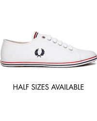 Fred Perry Kingston Twill Classic White Sneakers - Lyst
