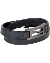 Fendi - Leather Wrap Bracelet - Lyst