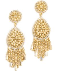 DANNIJO - Corina Earrings - Clear/gold - Lyst