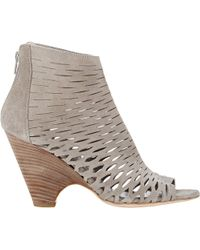Barneys New York Cutout Ella Ankle Boots - Lyst