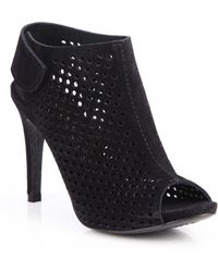 Pedro Garcia | Sofia Perforated Suede Open-toe Booties | Lyst