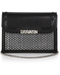 DANNIJO Beckett Metallic Raffia Convertible Clutch - Lyst