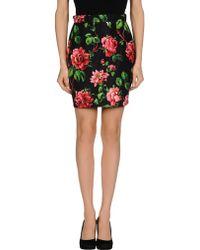 Miu Miu Multicolor Mini Skirt - Lyst
