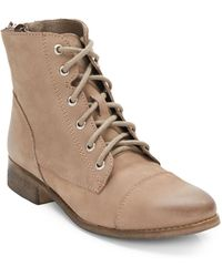Steve Madden Resistt Leather Lace-up Boots - Lyst