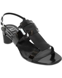 Roger Vivier 45Mm Sexy Buckle Leather Sandals - Lyst