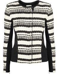 Iro Brockel Leather-trimmed Bouclã-tweed Jacket - Lyst