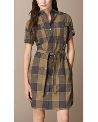 Burberry Check Cotton Box-Fit Shirt Dress - Lyst