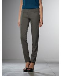 Patrizia Pepe Anklelegnth Trousers in Stretch Wool Gabardine - Lyst