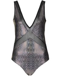 Jaded London - Holographic Mesh Insert Body By - Lyst