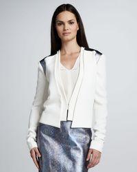 Rachel Roy Crepe Layered Jacket - Lyst