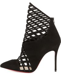 Christian Louboutin Mrs Boulglione Cutout Red Sole Bootie - Lyst